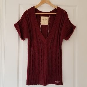 Hollister Maroon Sweater Dress